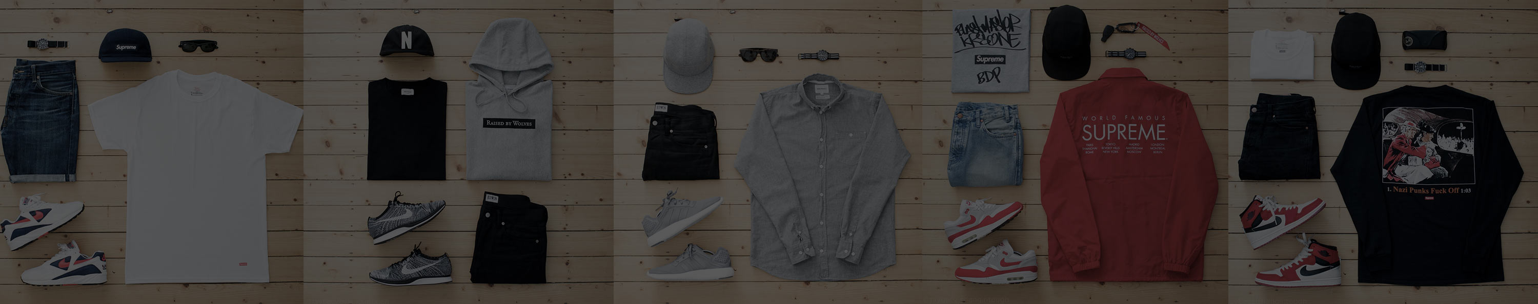 Header image with outfit grids